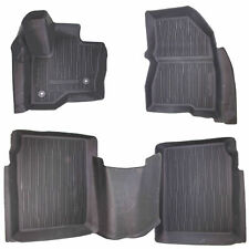 10-19 Ford Flex ALL WEATHER MATS BLK 1ST/2ND/3RD ROW HA8Z7413086AA 9A8Z7413182CA
