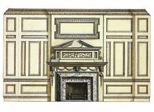 Postcard George Aitchison Design Interior Smoking Rm 1 S Audley St Mayfair Mint