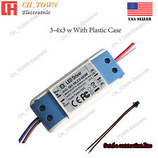 Constant Current LED Driver 10W 3-4X3W DC 9-13V 600mA Lamp Bulb Power Supply USA