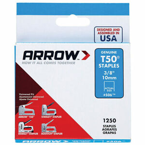 "Arrow Genuine 10mm (3/8"") T50 Steel Staples - ART50A10"