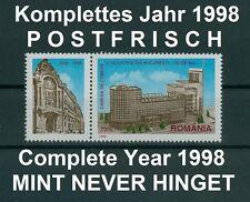 Rumänien 1998 komplettes ** Jahr,Mi.5293-5376,Block 308-11 ,Complete Year 1998