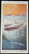Royal Navy Submarines   Original World War 1 Tribute Card