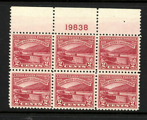 SCOTT 681 1929 2 CENT OHIO RIVER CANALIZATION ISSUE PB OF 6 MNH OG VF CAT $20!