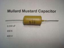 MULLARD MUSTARD CAPACITOR. 0.330uF 330K 400V 10% *1 PC* HIFI. + RC3