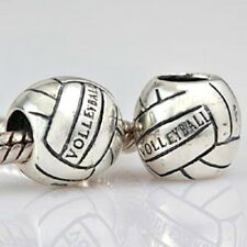 Volleyball Charm Bead 925 Sterling Silver