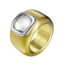 JOOP! JPRG10629B180 JP-Bold Damenring Edelstahl vergoldet , Solitärring neu