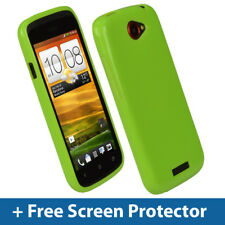 Green Glossy TPU Gel Case for HTC One S Android Smartphone Skin Cover Holder 1