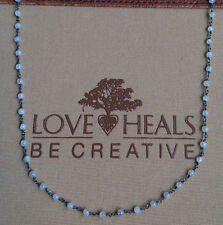 "Love Heals Be Creative 24"" Wire Wrapped Moonstone Necklace NEW retails $119.00"