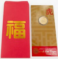.2010 YEAR OF THE TIGER UNC $1, ORIGINAL OUTER SLEEVE.