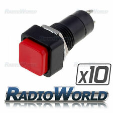 10x Red Square Rocker Switch On/Off SPST 12v Car Van Dash Light 3A @ 125v