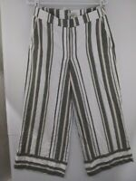 Loft Outlet Small Striped Wide Leg Crop Pants NWT $69.99 498867