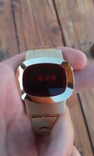 Microsonic, Vintage LED Watch, NSC Movement, Gold Tone Band, Great Cond. Runs