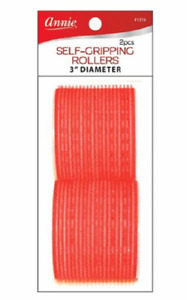 Annie Self Gripping Rollers 3 inch 2 count Red #1316