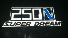 Honda Superdream 250n Pair of Blue N Side Panel Decals Stickers