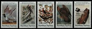 Togo 1985 - Mi-Nr. 1882-1886 ** - MNH - Vögel / Birds - Audubon
