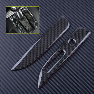 Carbon Fiber Gear Shift Position Panel Cover Trim Strip for Ford Mustang 2015-18