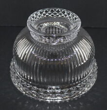 Crystal Hurricane Lamp Shade ~ Bell Shaped ~ Waterford or Inishmaan ~ Beautiful