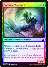 Saltwater Stalwart FOIL Battlebond NM Blue Common MAGIC MTG CARD ABUGames