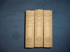 THE CORRESPONDENCE OF JONATHAN SWIFT/1st ed/HCDJ/Biography/Vol. 1-3