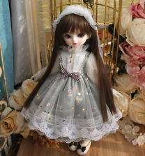 "1/4 BJD MSD Bowknot Dress & Headdress (White) - 17"" BJD Doll Clothes"