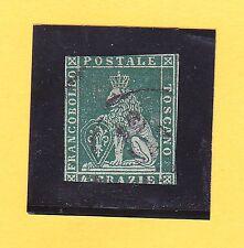 Italien-Altitalienische Staaten-Toscana-4 Crazie-blaugrün-MiNr.6xb-gestempelt