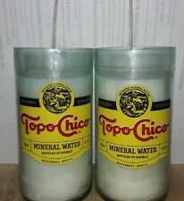 2 - TOPO CHICO Beeswax & Lard Candles with Soy Cotton Wicks Handcut & Handmade