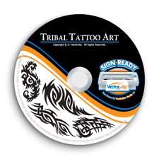 TRIBAL TATTOO CLIPART -VECTOR CLIP ART IMAGES -VINYL CUTTER PLOTTER GRAPHICS CD