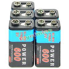 5pcs Durable 9V 9 Volt 600mAh Alimentation Pile Ni-Mh rechargeable bloc PPS