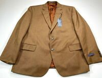 Stafford Classic Fit 48S Tobacco Brown 2-Button Vented Blazer Sport Coat NEW