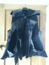 One O One Paris Unusual Black Wool mix Gillet Cape Plus Size