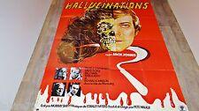 HALLUCINATIONS  ! affiche cinema horreur 1977