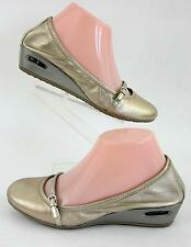 Cole Haan Nike Air Ballet Style Mary Jane Wedges Gold Leather Sz 7B