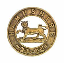 Hampshire Helmet Plate Centre Brass Metal