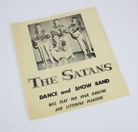 "Vintage 1940's Dance & Show Band "" THE SATANS "" High School Music Advertisement"