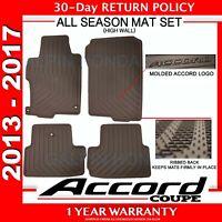 Genuine OEM Honda Accord 2DR Black All Season Floor Mat Set 13-17 (08P13-T3L-110