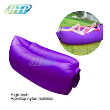 Outdoor Lazy Air Lounge Chair Inflatable Sleeping Camping Bed Beach Sofa Bag