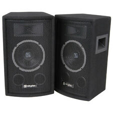 "Skytec PA 6"" Speakers 2x 150w Loudspeaker Disco Karaoke Stand Mountable Speaker"