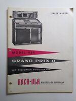Rock Ola 426 Grand Prix II Jukebox Phonograph Parts Manual Original Vintage 1965