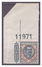 REGNO 1923  - FLOREALE -  LIRE 2   NUOVO  **  NUMERO DI TAVOLA
