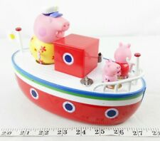 Peppa Pig on Grandpa Pig Baño Floating Boat con figuras's Playset Juguete