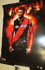 Jobe Watson (Essendon FC) signed AFL official poster - 400mm x 600mm approx.