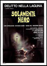 SOLAMENTE NERO MANIFESTO CINEMA FILM GIALLO 1978 ONLY BLACKNESS MOVIE POSTER 2F