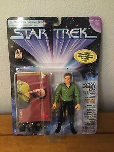 Rare Star Trek Captain Kirk Figure - In Green 'Casual Attire' Uniform BNIB