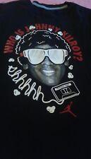 Nike Air Jordan Jumpman Popcorn Tape Black T Shirt Sz M Michael Jordan