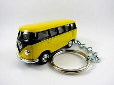 1966 VOLKSWAGEN VW Type 2 SAMBA BUS Yellow & Black Key FOB Keyring Keychain
