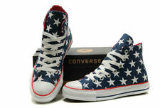 Converse All Star HI top Sneakers Blue w/White stars Walking Shoes Sz M8 or W10