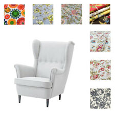 Custom Made Cover Fits IKEA Strandmon Chair, Armchair Cover, Patterned Fabric