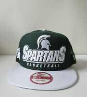 Men's New Era Cap Michigan State Spartans Basketball 9Fifty Snapback Med/Large