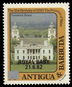 ANTIGUA 798i (SG848i) - Greenwich Palace 'Surcharged in Silver' (pa21928)
