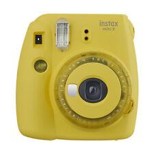 Fuji Instax Mini 9 Fujifilm Instant Film Camera with Clear Accents Yellow